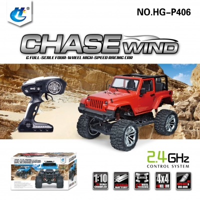 HENGGUAN MODEL HG-P406 1:10 2.4G JEEP WRANGLER CLIMBING CAR