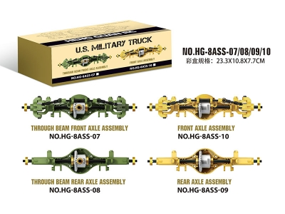 HENGGUAN MODEL HG-8ASS-07/08/09/10 U.S. MILITARY TRUCK BRIDGE WAVE BOX ASSEMBLY BEFORE AND AFTER THROUGH(FOR HG-P801 HG-P802 HG-P803A)
