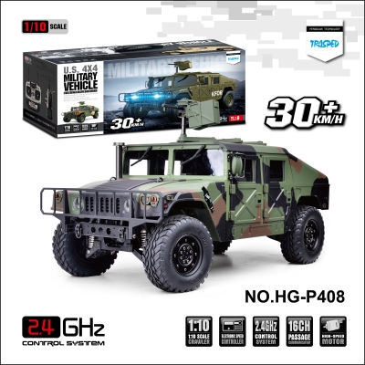 HENGGUAN MODEL HG-P408 16CH 1:10 SIMULATION 4WD CAMOUFLAGE COLOR HAUMMER