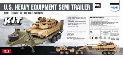 HENGGUAN MODEL HG-P806 1:12 U.S. M747 SEMI TRAILER(KIT) Army green/Desert yellow color