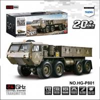 恒冠模型 HG-P801 8通道1:12 8轮仿真军用卡车