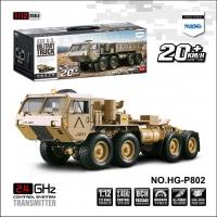 恒冠模型 HG-P802 8通道1:12 仿真8轮军用拖头