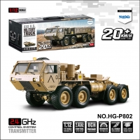 HENGGUAN MODEL HG-P802 8CH 1:12 8WD R/C SIMULATION U.S. MILITARY TRUCK(M983 HEMTT )
